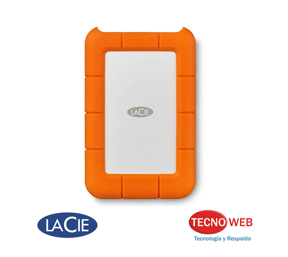 Disco Externo Lacie Rugged 2 TB Thunderbolt USB-C Portable